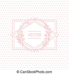 Vector wedding invitation design template with hand-lettering phrase save the date