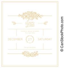 Vector wedding invitation design template