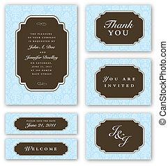 Vector Wedding Invitation Set - Set of wedding invitations ...