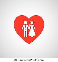 wedding married couple icon