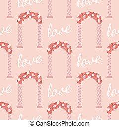 Vector wedding seamless pattern