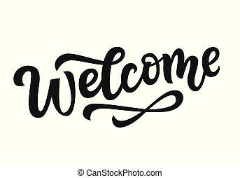 Vector Welcome hand written lettering