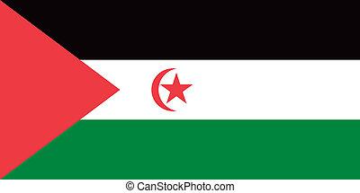 Western Sahara flag - Vector Western Sahara flag
