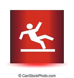 Vector Wet Floor Warning Sign