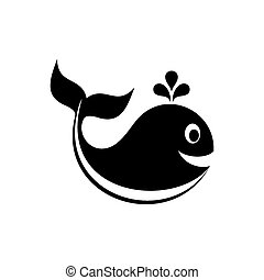 Vector whale icon
