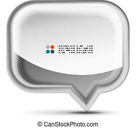 Vector white 3d speech bubble concept