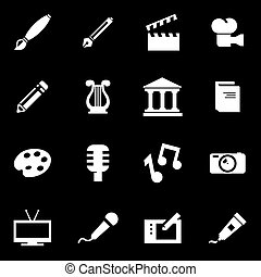 Vector white art icon set