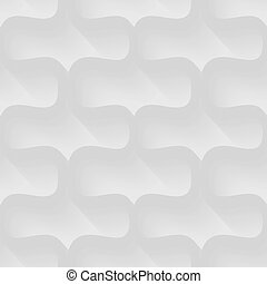 Vector white background of abstract waves. Seamless pattern