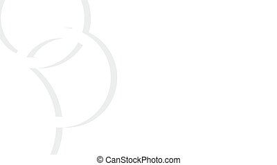 Vector white background with rings - olimpic or wedding...