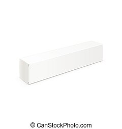 Vector White Blank Packaging Package Pack Toothpaste Box Design Template Isolated On Background