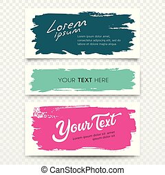 Vector White card brush stroke colorful collections design
