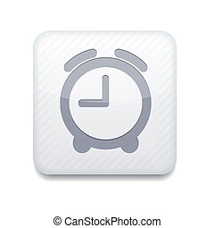 Vector white clock icon. Eps10. Easy to edit