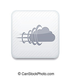 Vector white cloud icon. Eps10. Easy to edit