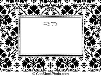 Vector White Clover Pattern and Frame