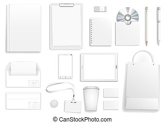 Vector white corporate mock up - Vector corporate mock up. ...