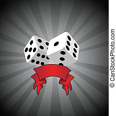 Vector white dice background