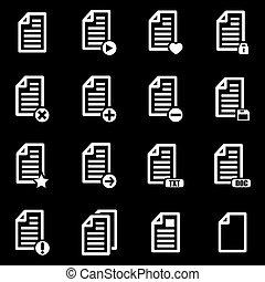 Vector white documents  icon set