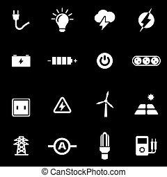 Vector white electricity icon set