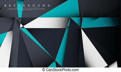 vector, white., estilo, geométrico, azul, combinación,...