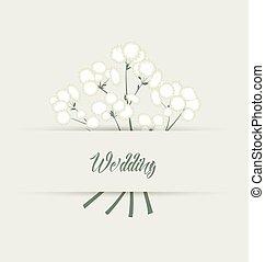 Vector white flowers - Vector illustration of white flowers ...