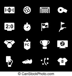 Vector white football icons set