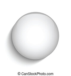 White Glass Circle Button Icon - Vector - White Glass Circle...