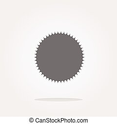 vector white glossy sphere icon button isolated on white. Web Icon Art. Graphic Icon Drawing