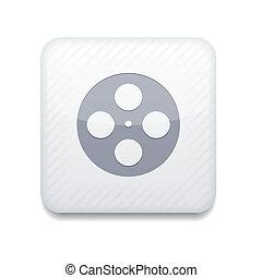 Vector white icon. Eps10