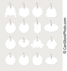 Vector white label set
