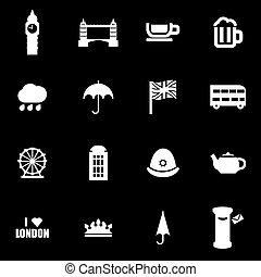 Vector white london icon set