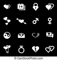 Vector white love icon set