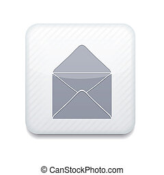 Vector white mail icon. Eps10. Easy to edit
