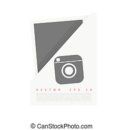 Vector white Origami paper banner for you