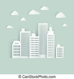 Vector White Paper City