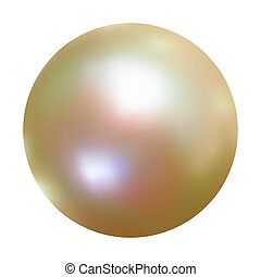 Vector White Pearl. EPS 8 vector file included