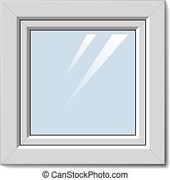 vector white plastic window