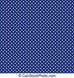Vector white polka dots on blue