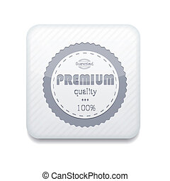 Vector white premium quality icon. Eps10. Easy to edit