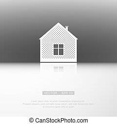 Vector white real estate icon background.