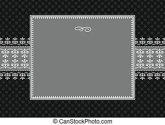 Vector White Ribbon Frame