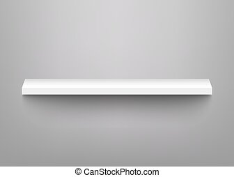 Vector white shelves for product display mockup - Vector...