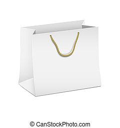 Vector white shopping paper bag