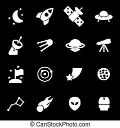 Vector white space icons set