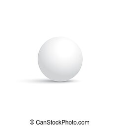 Vector white sphere isolated on white background.