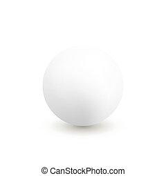 Vector white sphere