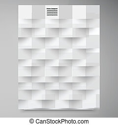 Vector white squares. Abstract backround