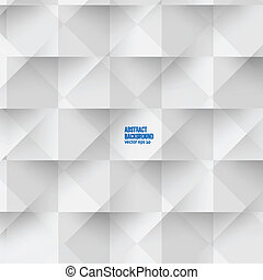 Vector white squares. Abstract backround - Vector white...