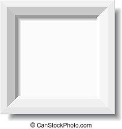 vector white stylish photo frame
