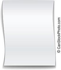 vector white wavy paper