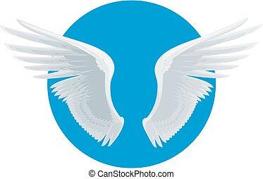 Vector white wings